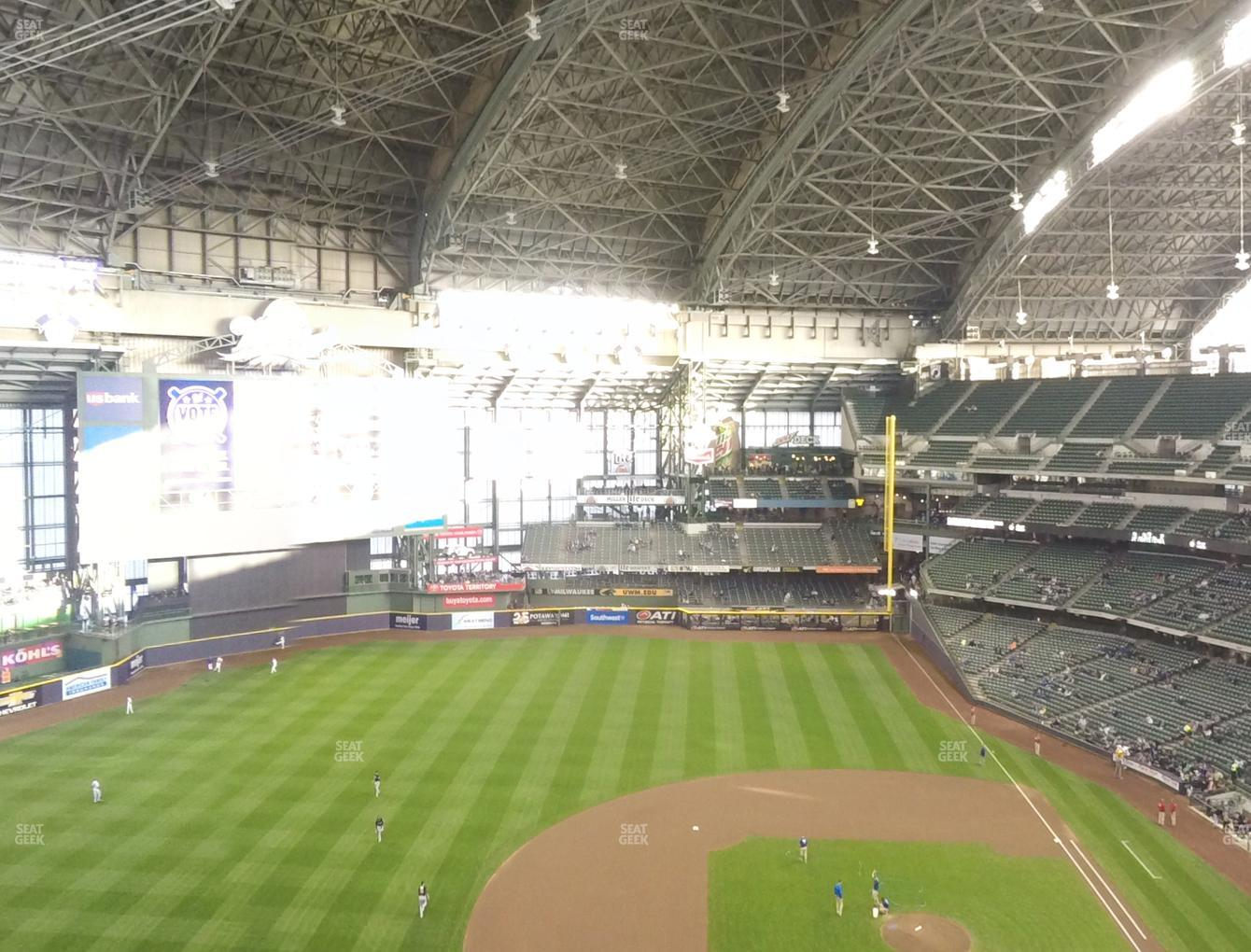 Milwaukee Brewers at Miller Park Section 429 View