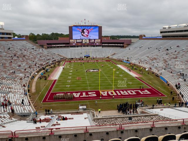 Doak Campbell Stadium Section Club 322 view