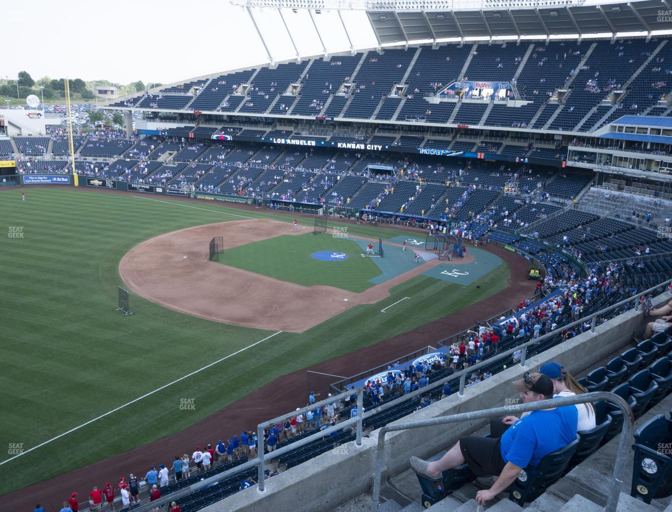 Kansas City Royals at Kauffman Stadium Section 404 View