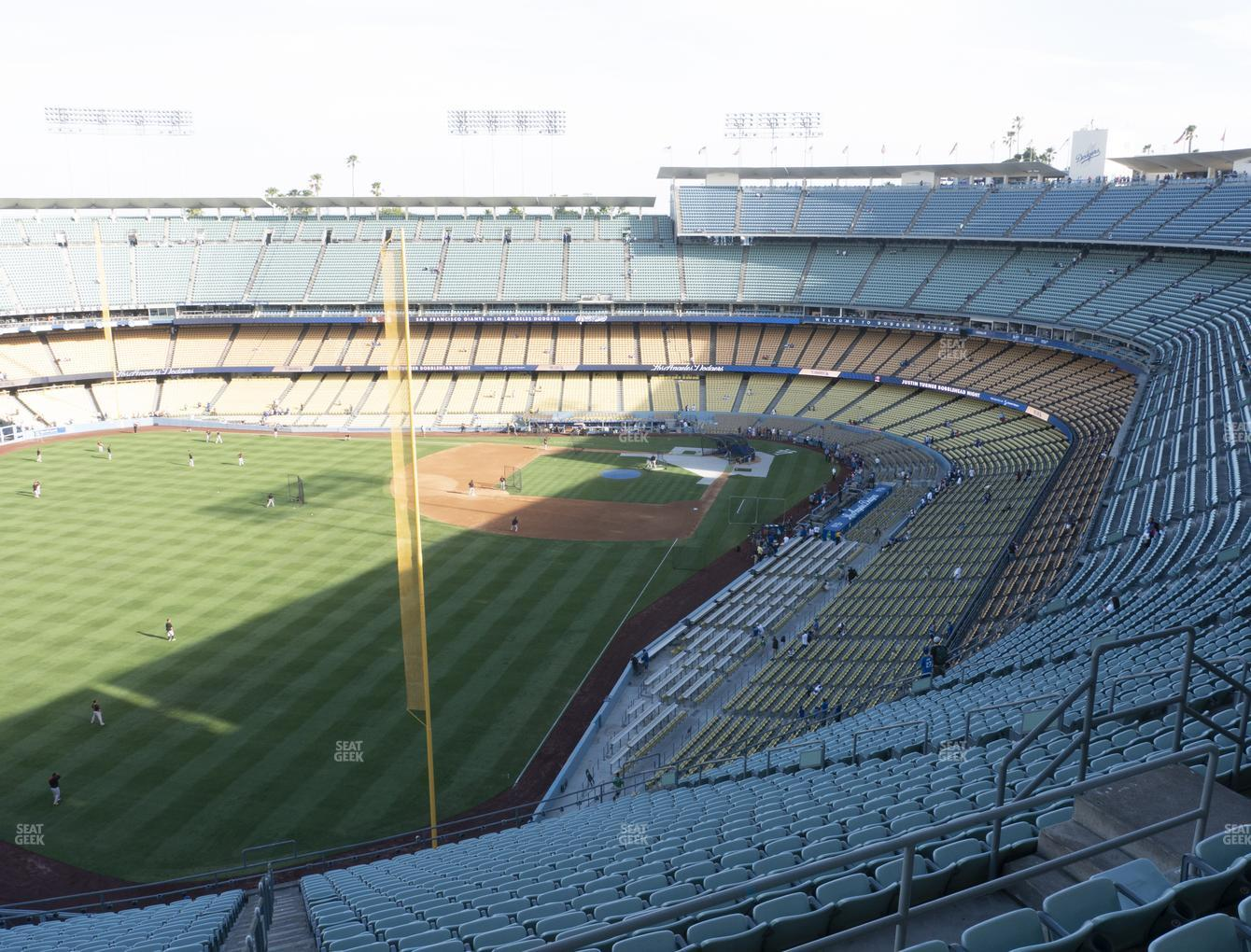 Los Angeles Dodgers at Dodger Stadium Reserve 57 View