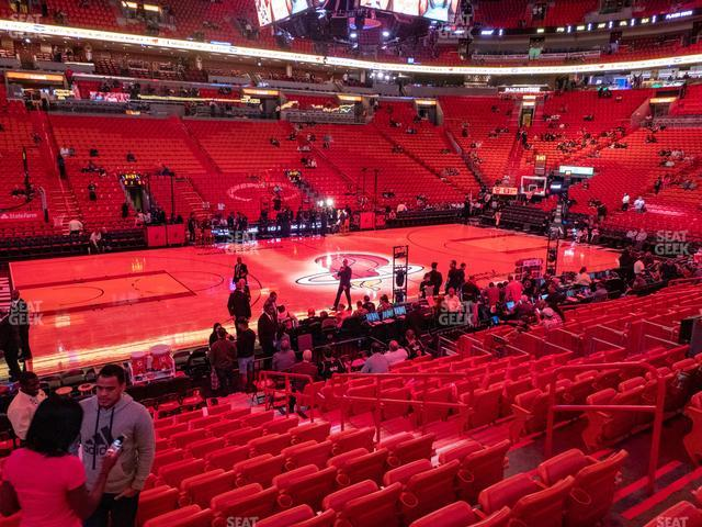 American Airlines Arena Section 108 view