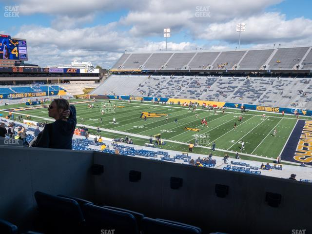 Mountaineer Field at Milan Puskar Stadium Field Box 70 view