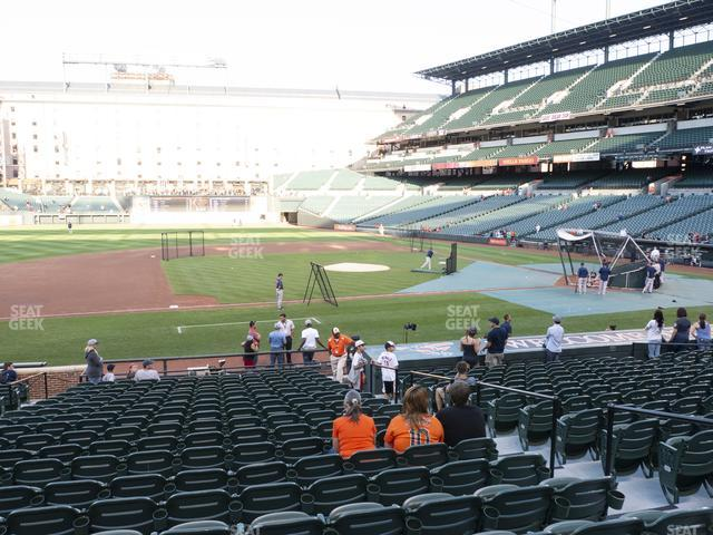 Oriole Park at Camden Yards Section 54 view