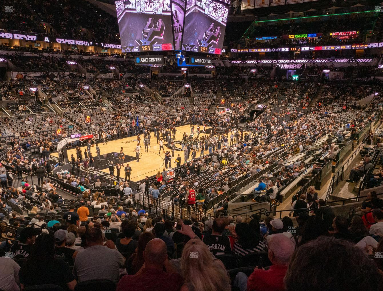 San Antonio Spurs at AT&T Center Section 111 View