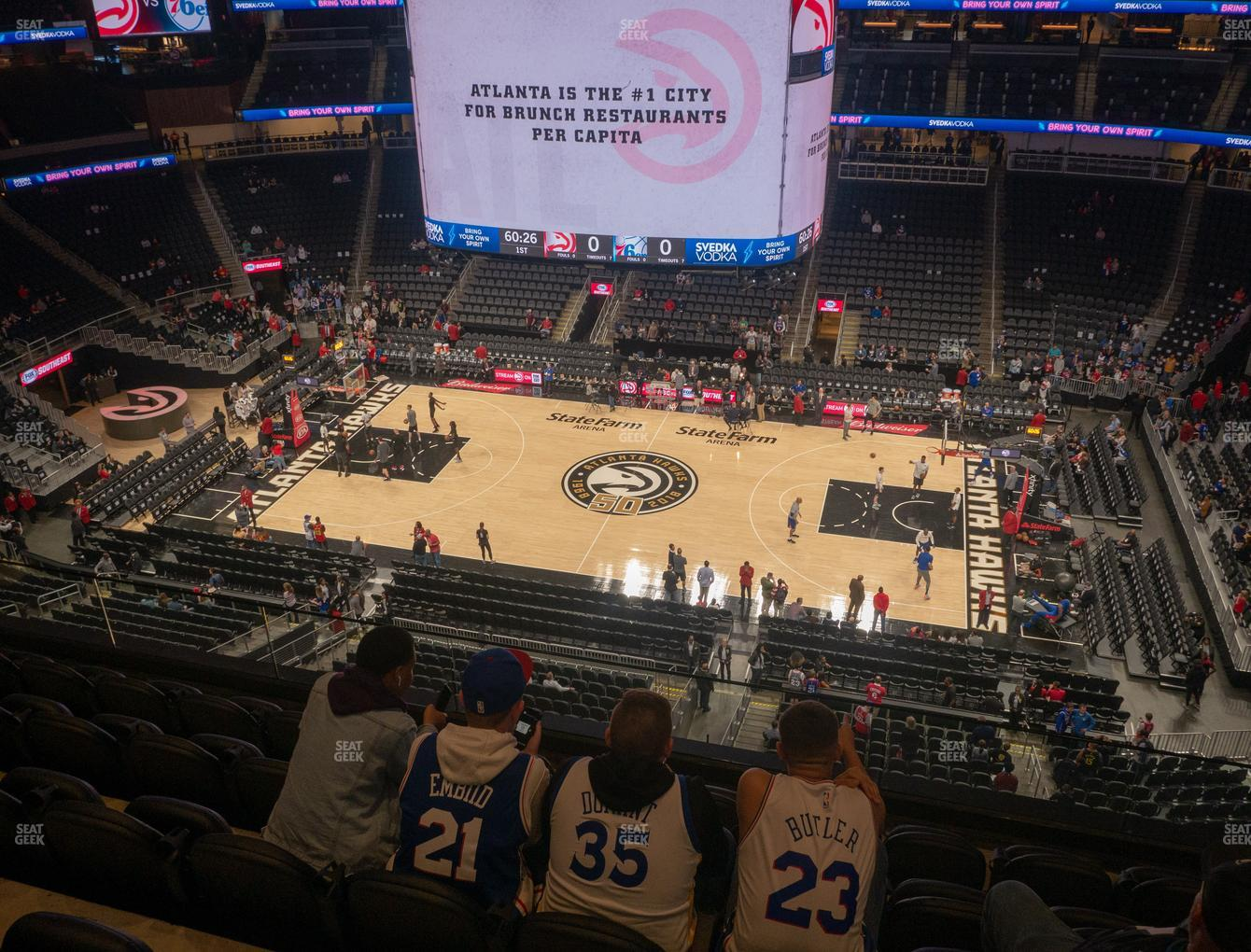 Atlanta Hawks at State Farm Arena Section 208 View