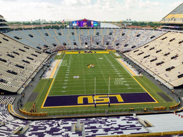 LSU Tiger Stadium Section Club 560 view