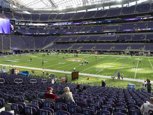 U.S. Bank Stadium Section 107 view