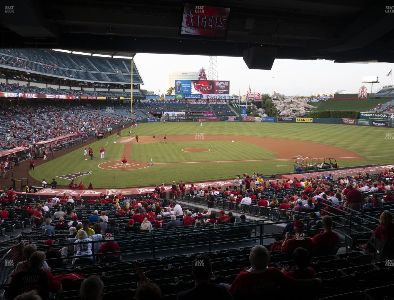 Los Angeles Angels at Angel Stadium of Anaheim Section 221 View
