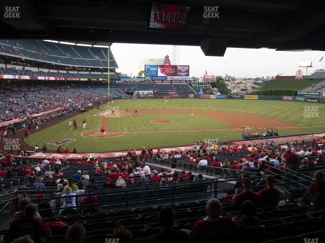Angel Stadium of Anaheim Section 221 view