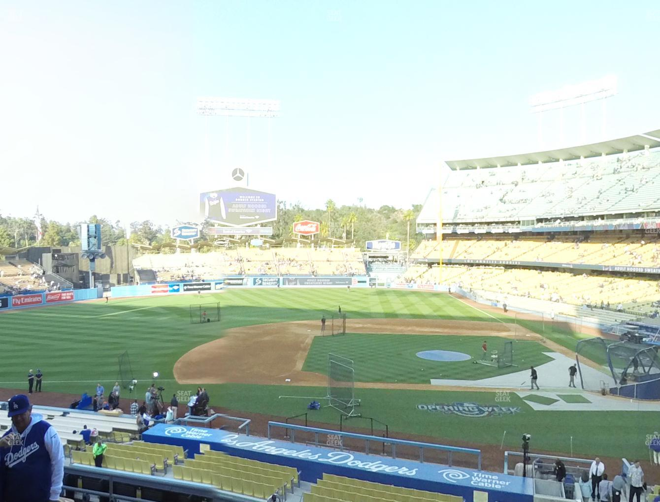 Los Angeles Dodgers at Dodger Stadium Loge Box 129 View