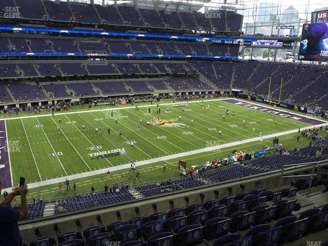 U.S. Bank Stadium Section 215 view