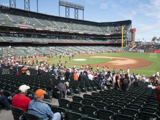 Oracle Park Section 105 view