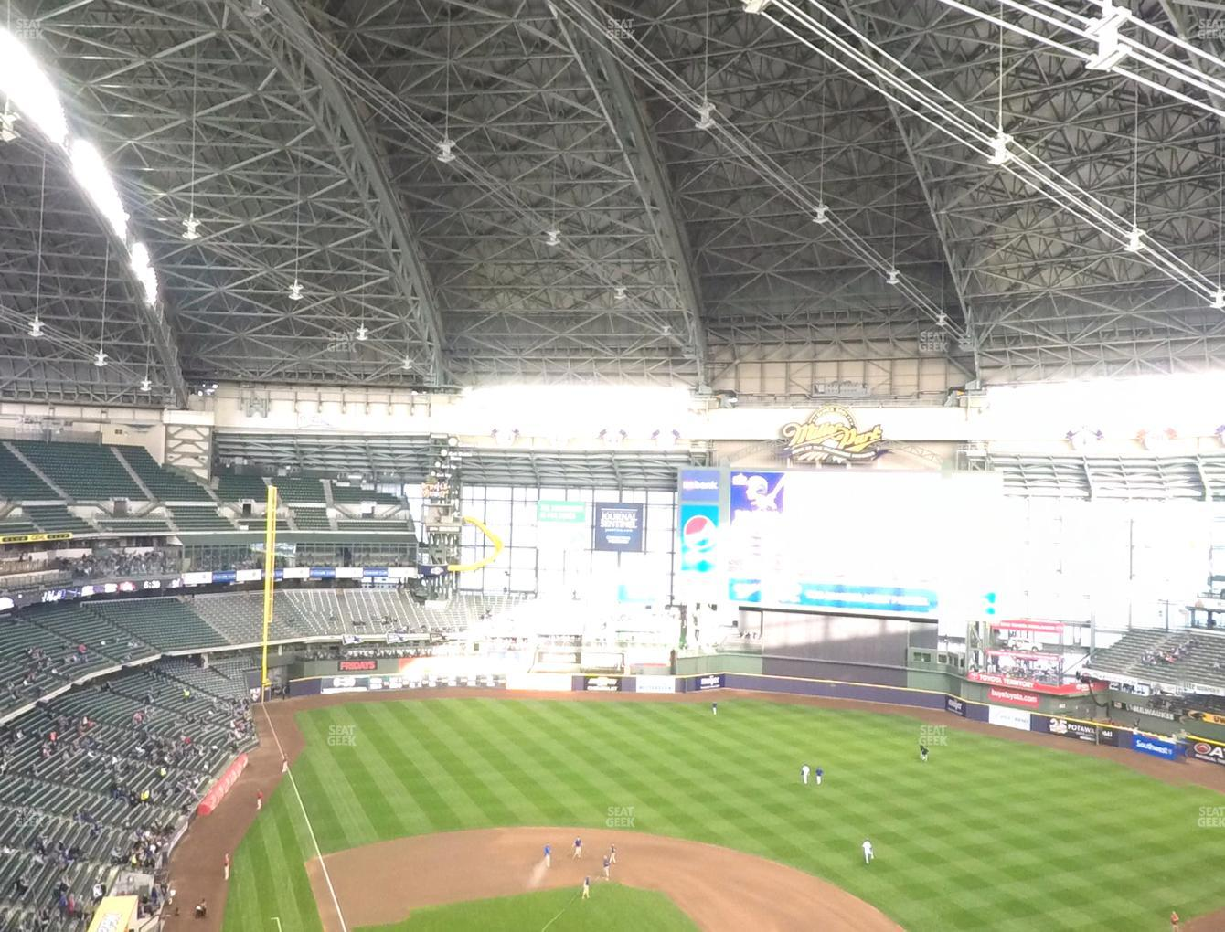 Milwaukee Brewers at Miller Park Section 419 View