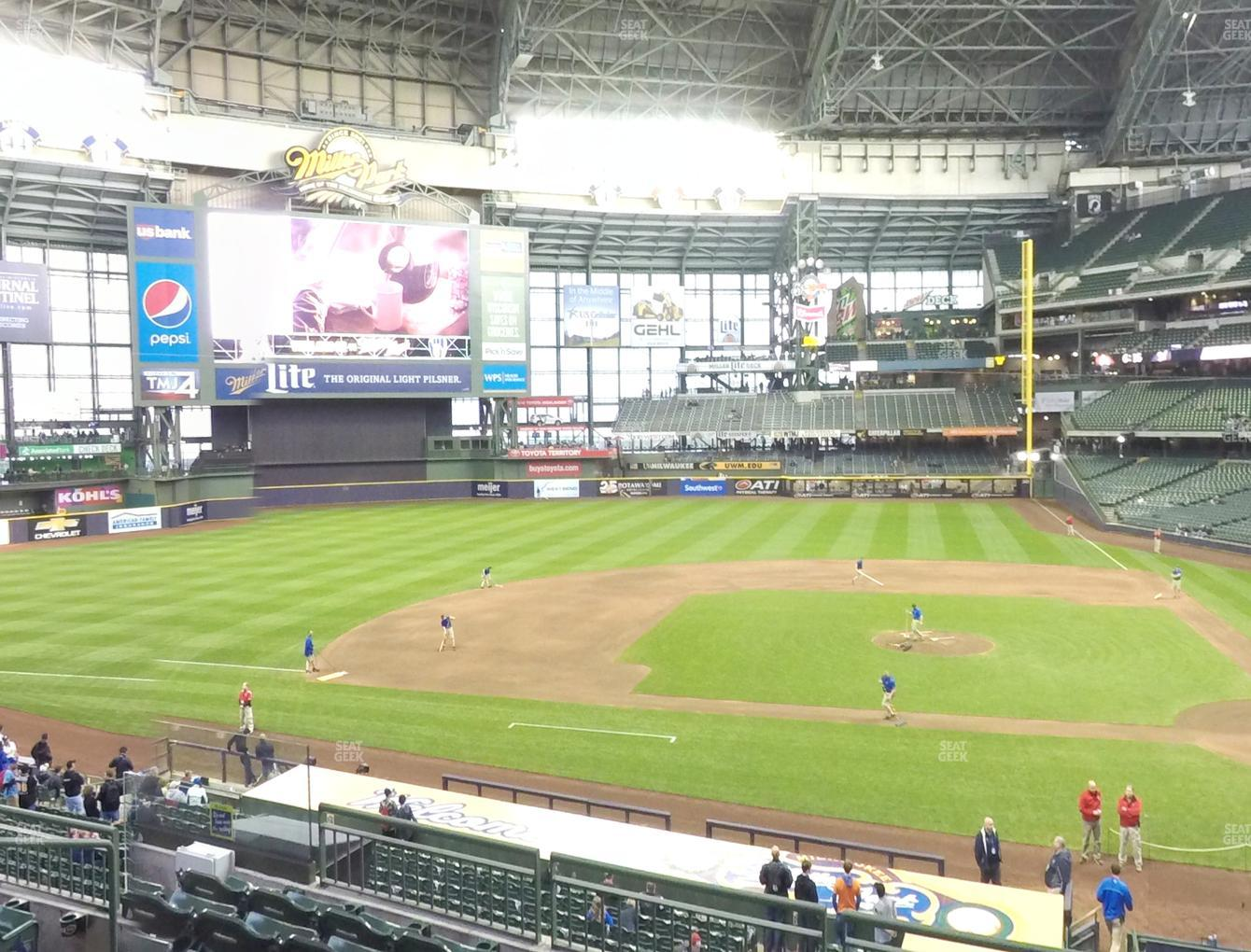 Concert at Miller Park Section 223 View