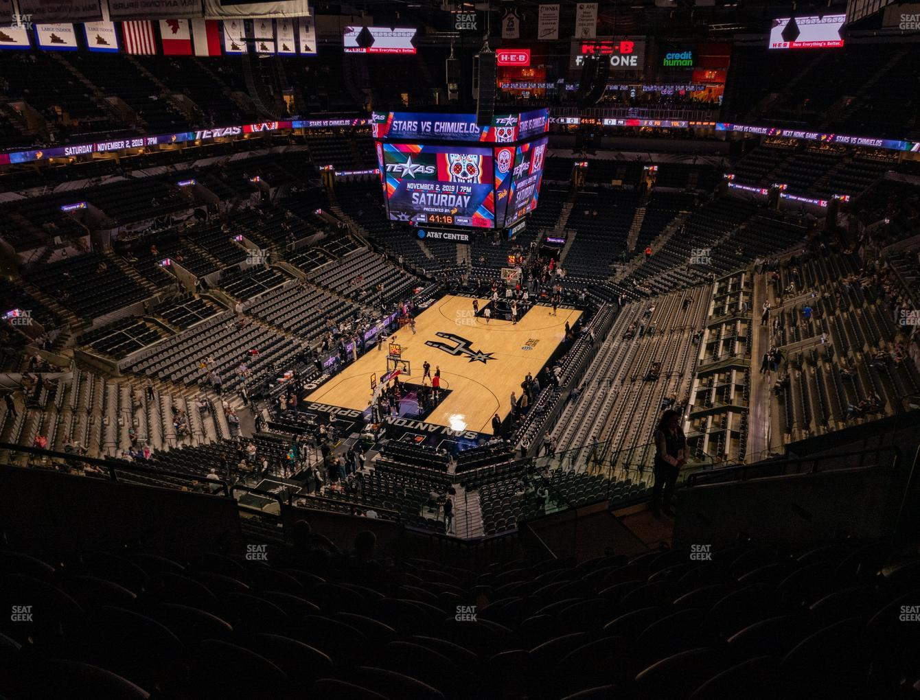 San Antonio Spurs at AT&T Center Section 230 View