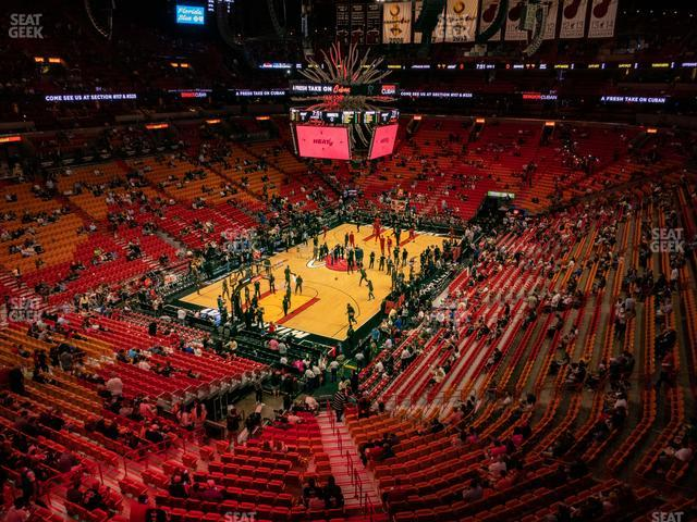 American Airlines Arena Section 330 view