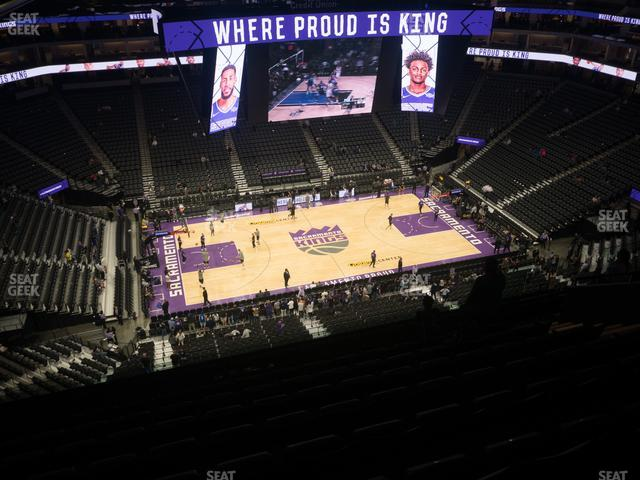 Golden 1 Center Section 219 view
