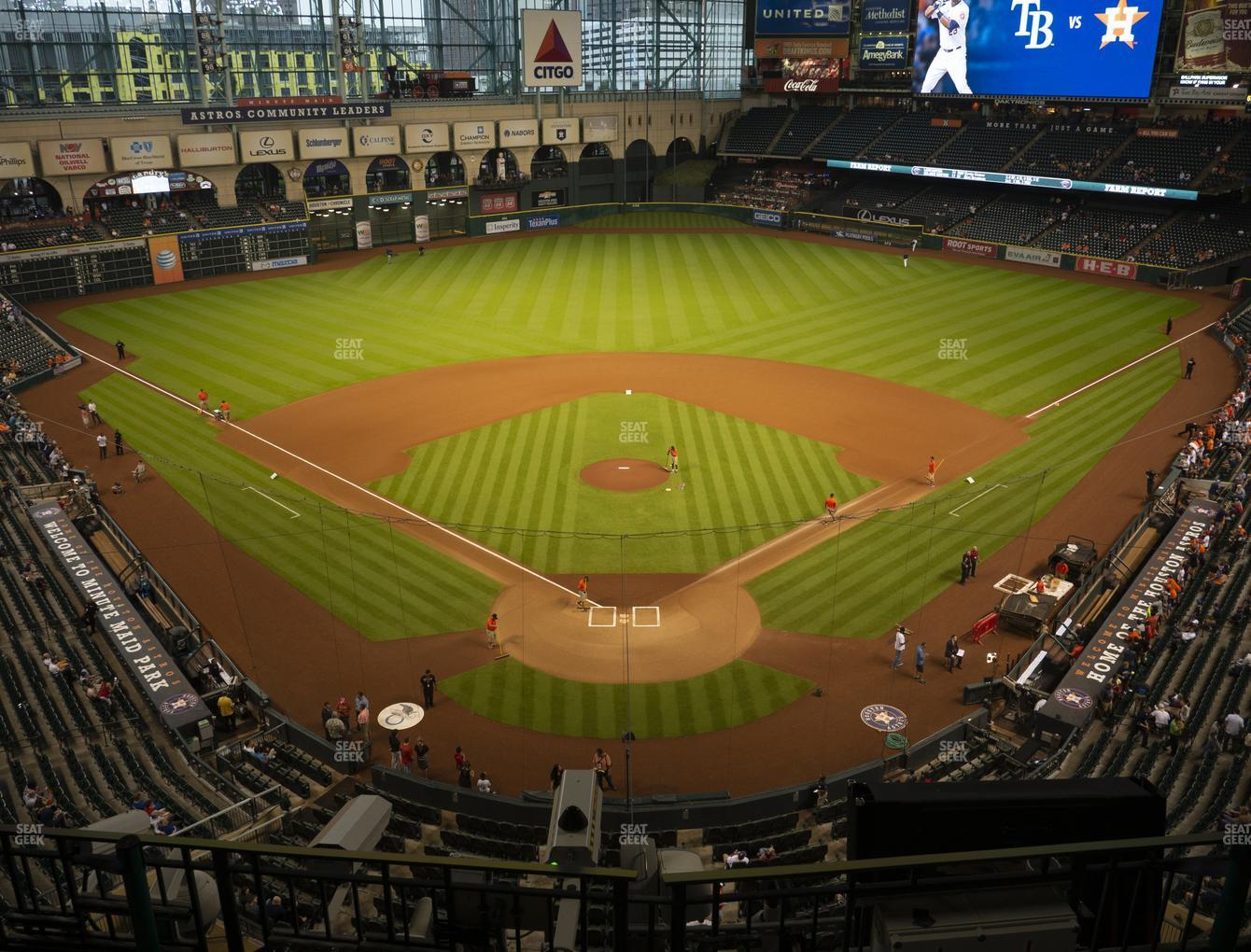 Houston Astros at Minute Maid Park Section 319 View