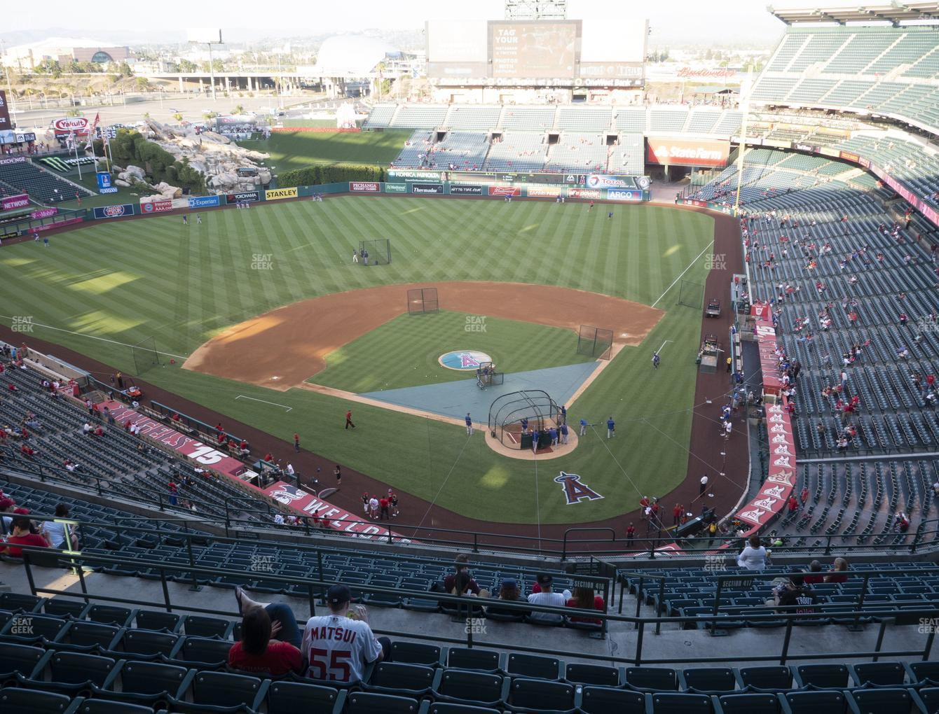 Los Angeles Angels at Angel Stadium of Anaheim Section 518 View