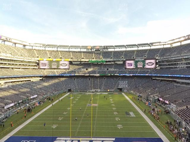 MetLife Stadium Section 250 A view