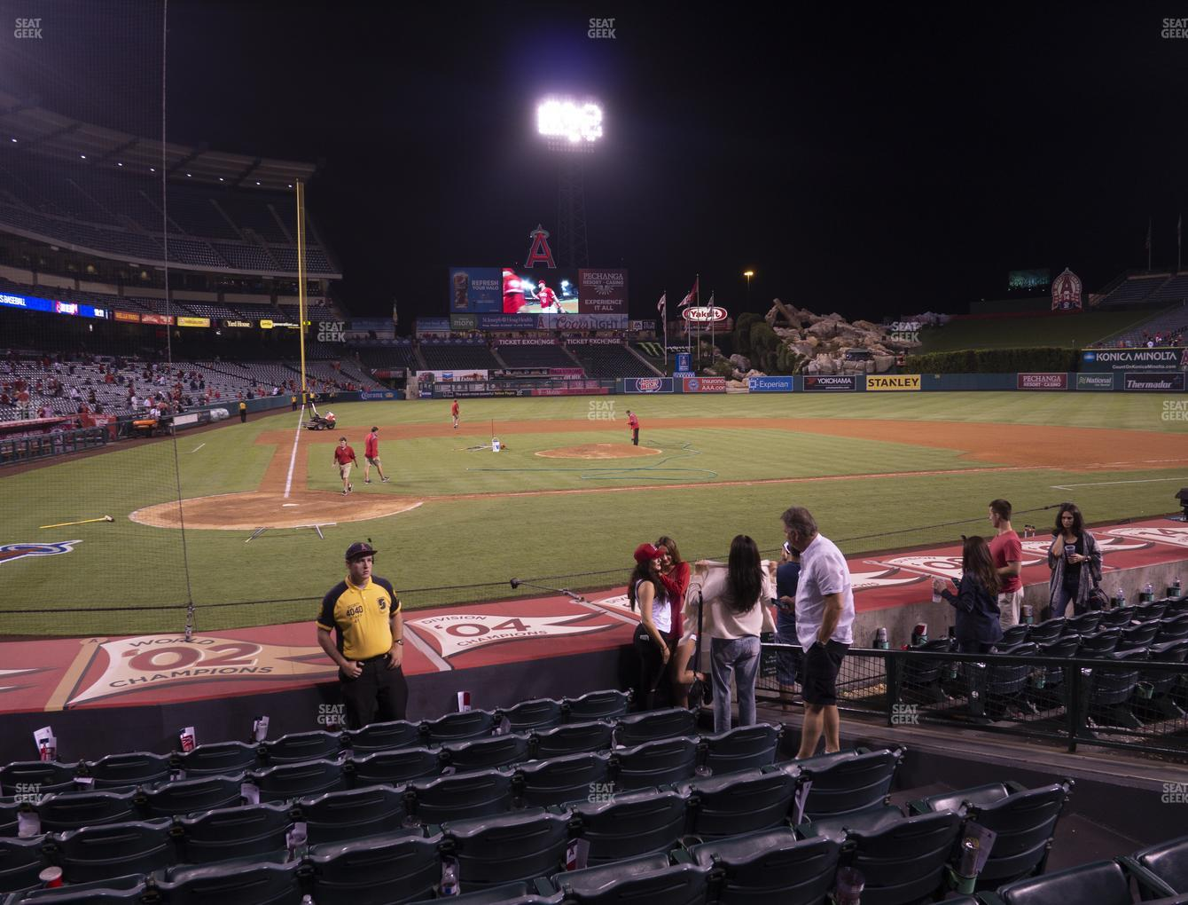 Los Angeles Angels at Angel Stadium of Anaheim Section 122 View