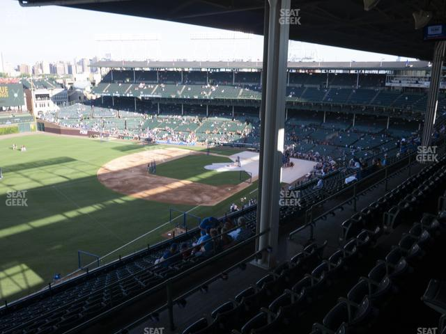 Wrigley Field Section 404 Left view