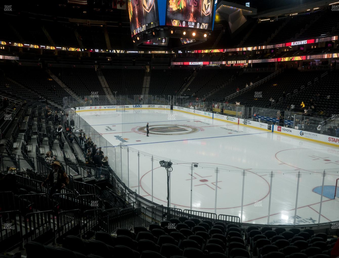 Vegas Golden Knights at T-Mobile Arena Section 19 View