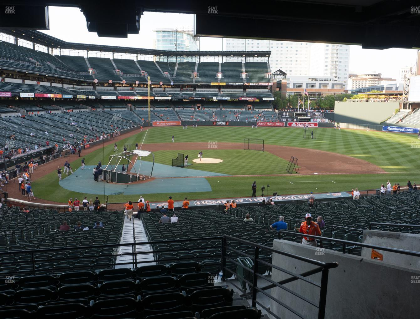 Baltimore Orioles at Oriole Park at Camden Yards Section 27 View
