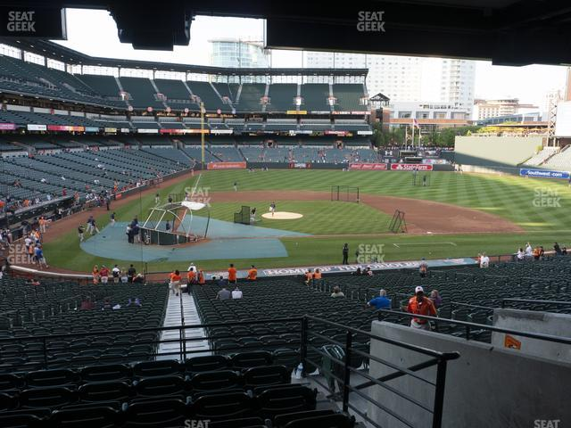 Oriole Park at Camden Yards Section 27 view