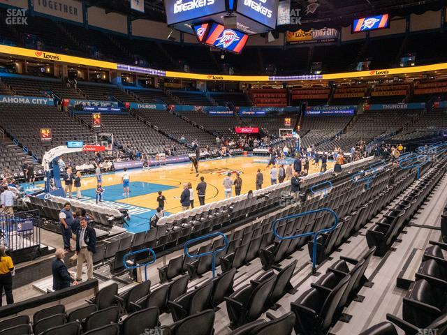 Chesapeake Energy Arena Section 108 view
