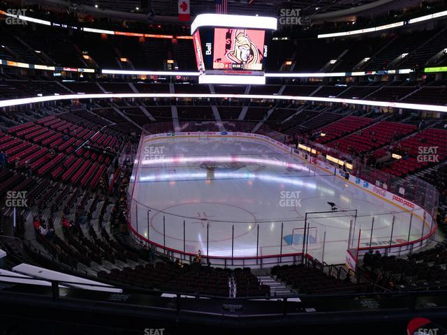 Canadian Tire Centre Molson Canadian Fan Deck 216 view