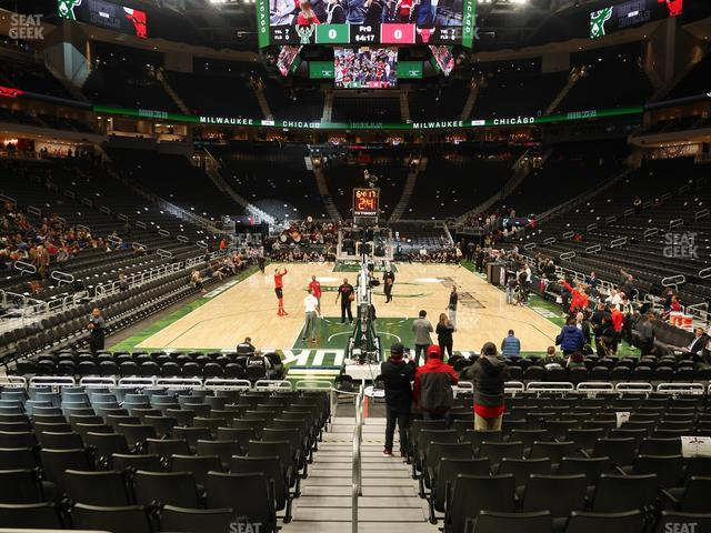 Fiserv Forum Section 122 view