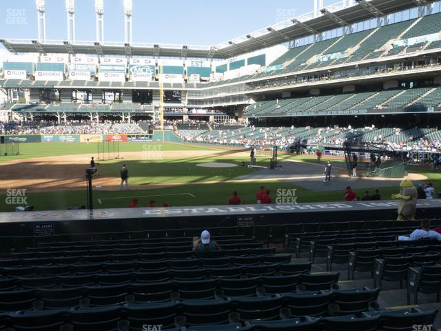 Progressive Field Section 163 view