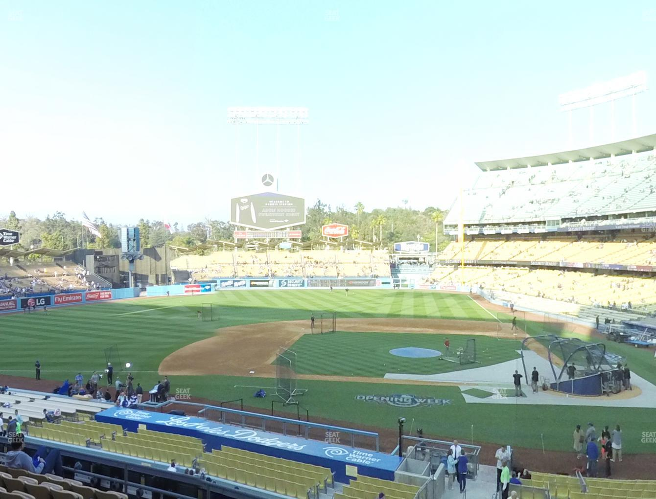 Los Angeles Dodgers at Dodger Stadium Loge Box 125 View