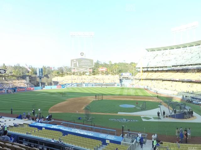Dodger Stadium Loge Box 125 view