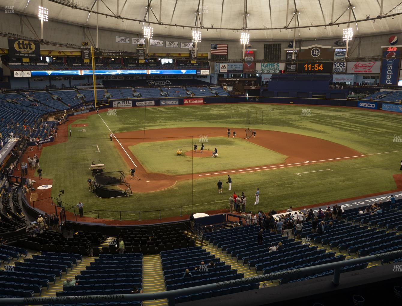 Tampa Bay Rays at Tropicana Field Section 206 View