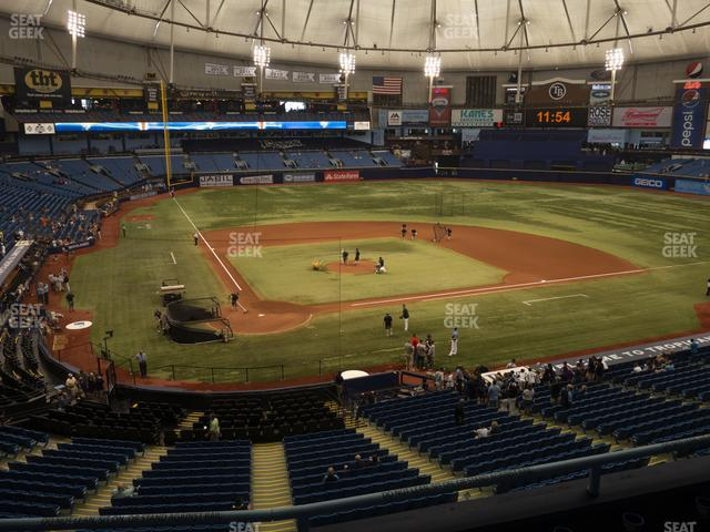 Tropicana Field Section 206 view