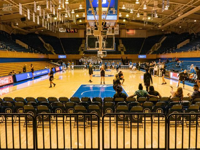 Cameron Indoor Stadium Section 20 view