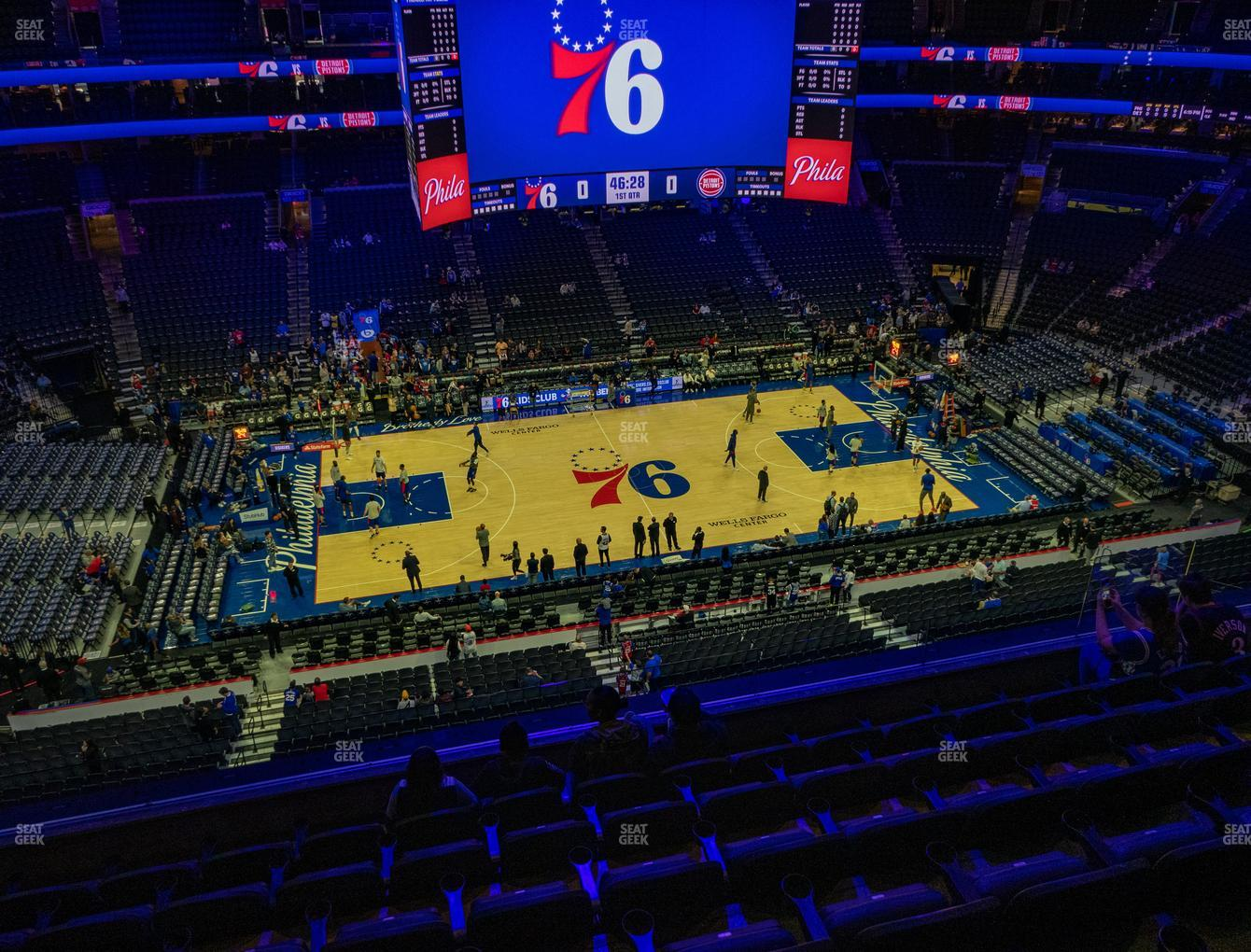 Philadelphia 76ers at Wells Fargo Center Section 212 View