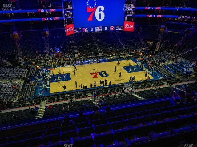 Wells Fargo Center Section 212 view