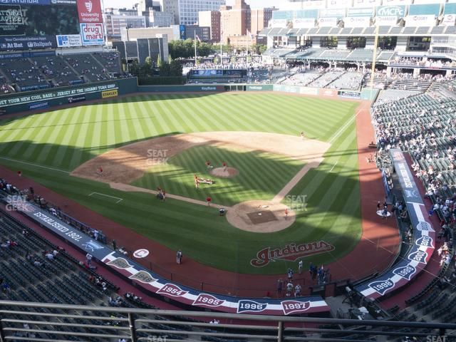 Progressive Field Section 456 view