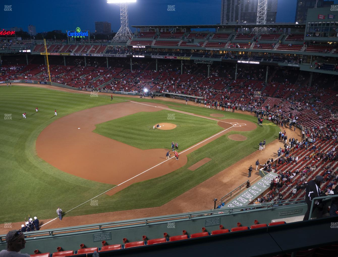 Boston Red Sox at Fenway Park Pavilion Box 12 View