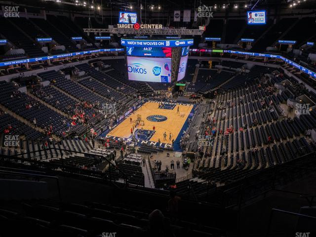 Target Center Section 219 view