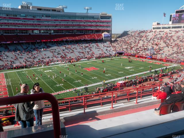 Memorial Stadium Nebraska Section 110 view