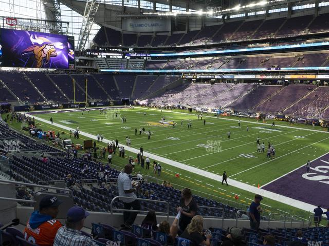 U.S. Bank Stadium Section 124 view