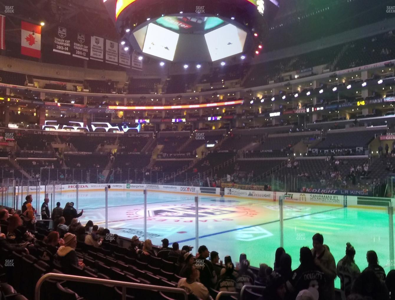 Staples Center Section 109 Seat Views Seatgeek