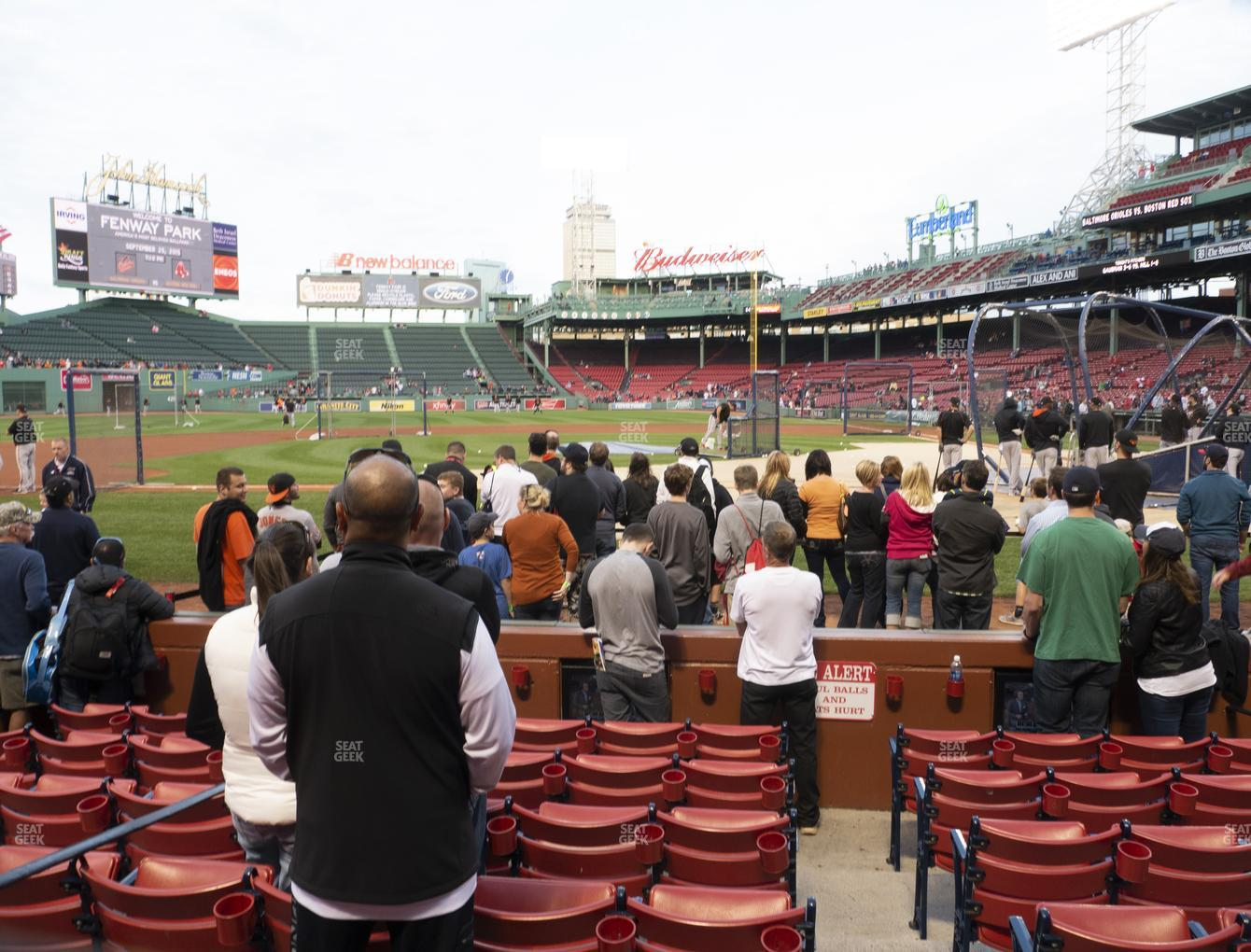 Boston Red Sox at Fenway Park Field Box 57 View