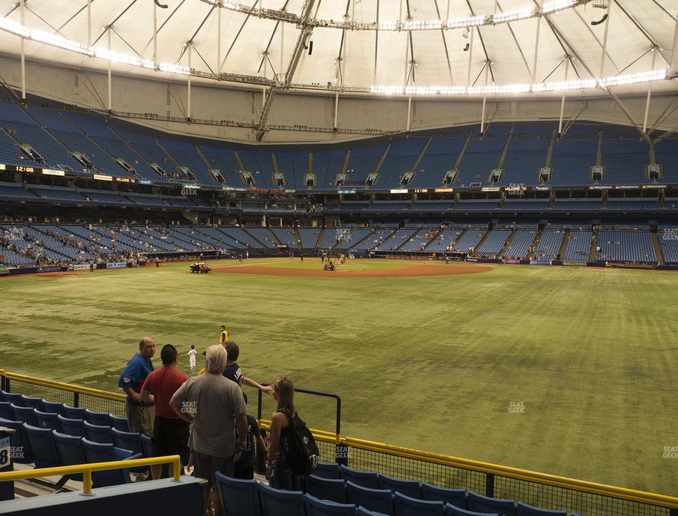 Tampa Bay Rays at Tropicana Field Section 150 View