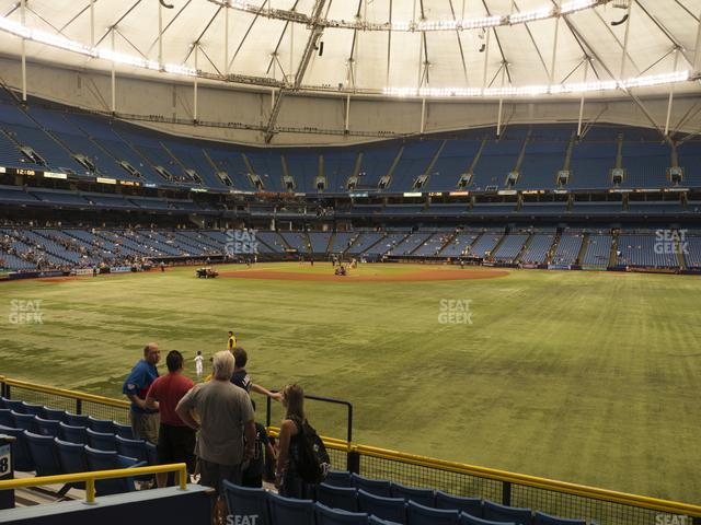 Tropicana Field Section 150 view