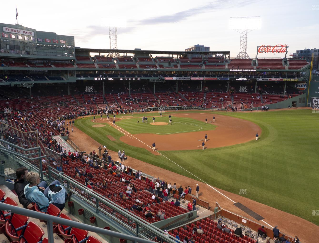 Boston Red Sox at Fenway Park Right Field Roof Box 25 View